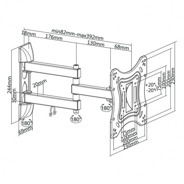 Suport de perete pentru televizoare LCD 23 - 42 inch -etelecomanda.ro