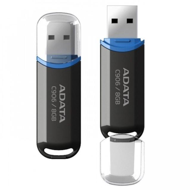Memorie USB 8GB ADATA C906 Black -etelecomanda.ro